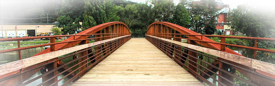 Bridge on the walking path